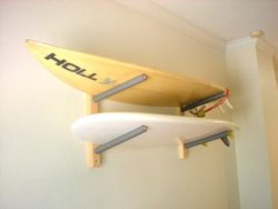 Surfboard Wall Rack Mount — Holds 2