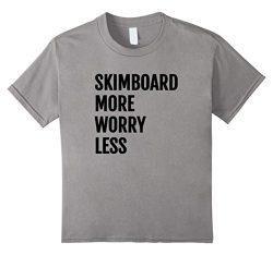 Kids Skimboard Shirt for Kids, Men, Women 12 Slate