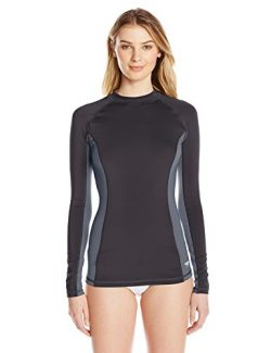 Speedo Women's Solid Long Sleeve Rashguard Shirt