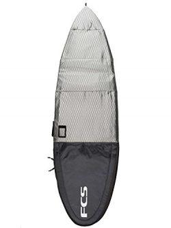 FCS Flight All Purpose / Fun Board / Long Board Travel Surfboard Bag (Charcoal, All Purpose 6 ...