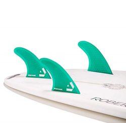 Dorsal Performance Core (Hexcore) Thruster Surfboard Surf Fins Set (3) Honeycomb FUT Base Green