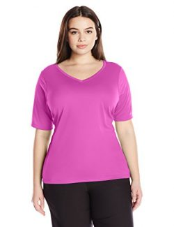 Kanu Surf Women's Plus Size Solid Upf 50+ Swim Shirt Rashguard