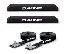 DaKine Long Aero Rack Pads with 12′ Tie Down Straps – Black