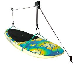 SUP and Surfboard Adjustable Ceiling Hoist | Hi-Lift Garage Storage and Organization Rack | Stor ...
