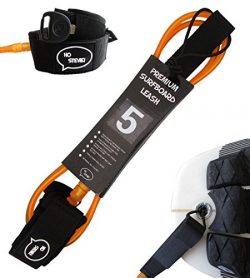 Premium Surf Leash [1 Year Warranty] Maximum Strength, Lightweight, Kink-free, Perfect for All T ...