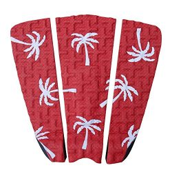 Premium Surfboard Traction Pad [CHOOSE COLOR] 3 Piece, Full Size, Maximum Grip, 3M Adhesive, for ...