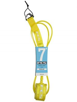 FCS Regular Surfboard Leash – Taxi Cab Yellow – 7′