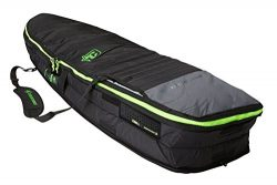 Creatures of Leisure Fish Double Surfboard Bag Charcoal Lime 6ft 7in