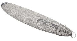 FCS Stretch Fun Board / Long Board Cover Surfboard Sock (Charcoal, Long Board 10′ 0″)