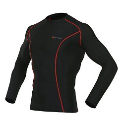 OUTOF Men's Long Sleeve T-Shirts Baselayer Cool Dry Compression Top Running Yoga Rashguard ...