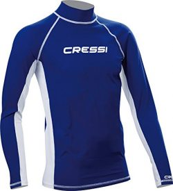 Men's Rash Guard for Swimming, Surfing, Diving with Sun Protection | LONG SLEEVE RASH GUAR ...