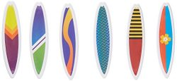12 Count Surfboards Cake and Cupcake Toppers, Assorted