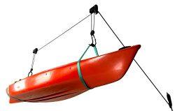Kayak Ceiling Storage Hoist | Hi-Lift Home & Garage Hanging Pulley Rack | StoreYourBoard