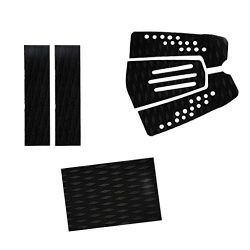 MagiDeal 6 Pieces Adhesive Non-slip Black EVA Traction Pad Deck Grip Tail Pads for Surfboard Sur ...