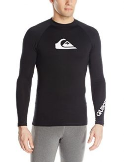 Quiksilver Men's Time Long Sleeve Rashguard Swim Shirt UPF 50+