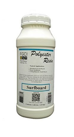 Polyester, Surfboard Resin, Clear, Wax Free, 1 Quart