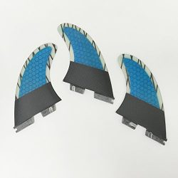 UPSURF surfboard fins FCS2 carbon 3 surfing fins choose size–M/L