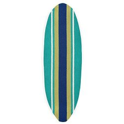 Liora Manne Folly Surfer Stripes Rug, Teal