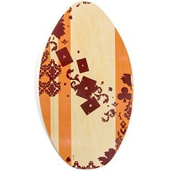 Lucky Bums Wood Skimboard, Clubs – 39 Inches
