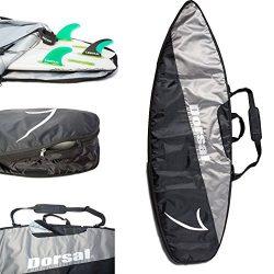 Dorsal Project StormChaser Travel Shortboard Surfboard Travel Board Bag – 6'6 / Blac ...