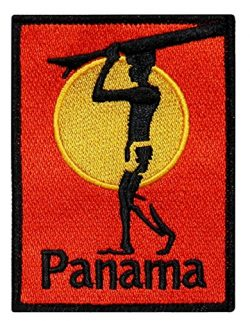 """Panama"" Surfboard Beach Bum Wave Rider Ocean Surf Sew On Applique Patch"