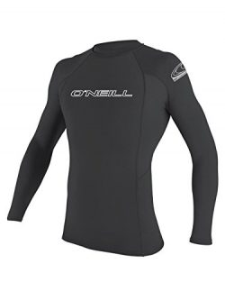O'Neill men's basic skins long sleeve rashguard 2XL-Tall Graphite (3342IS)