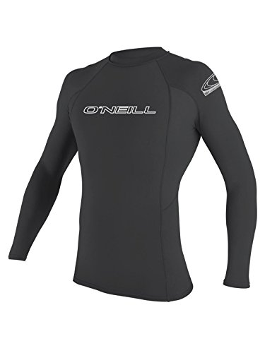 O'Neill men's basic skins long sleeve rashguard 2XL-Tall Graphite (3342IS)