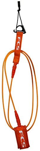 FCS Comp Surfboard Leash – Orange – 6′