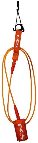 FCS Comp Surfboard Leash – Orange – 6′