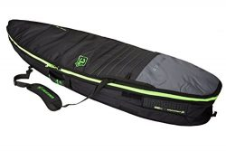 Creatures of Leisure Shortboard Double Bag Charcoal Lime 6ft 7in