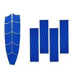 MonkeyJack 9 Pieces Blue Diamond Grooved Non-slip EVA Surfboard Skimboard Bodyboard Full Deck Tr ...