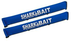 sharkbaitsurfwax Set of Two 30 Inch Long Aero Roof Rack Pads ROYAL BLUE Fade Proof for Surfboard ...