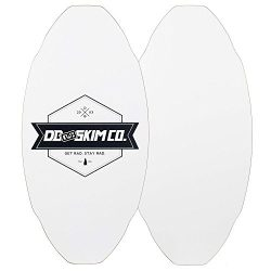 DB Skimboards Proto Plank Skimboard, White, Medium