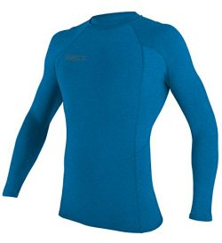 O'Neill UV Sun Protection Men's Basic Skins Long Sleeve Crew Rashguard, Brite Blue S ...