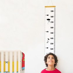 Baby Growth Chart Hanging Rulers Room Decoration Wall Decor Removable Canvas Large Height Measur ...
