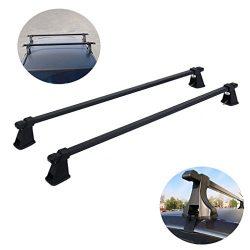 48″ Universal Car Top Roof Rack Cross Bars for Bike Snowboard Kayak Canoe Luggage Carrier  ...