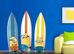 Minions Surfboard Large Wall Decal Set