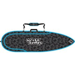 Sticky Bumps Single Day Surfboard Bags 6'0 Thruster Black/Blue/Reflective