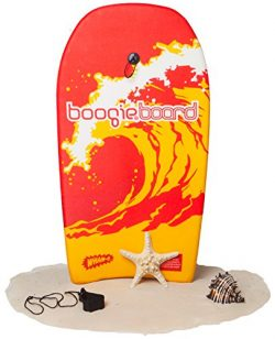 Boogie Board 33 Fiberclad Bodyboard – Durable Fiberclad Deck with Phuzion Core and Leash & ...