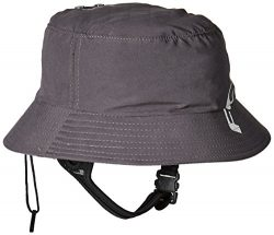 FCS Wet Bucket Surfing Hat with Chin Strap in Gunmetal (Medium/Large)