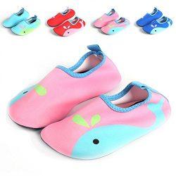 Barerun Kids Comfortable Quick-Dry Water Shoes Aqua Socks For Swim Beach Pool Surf Yoga