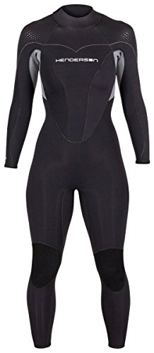 Women's Thermoprene Pro Wetsuit 3mm Back Zip Fullsuit Black