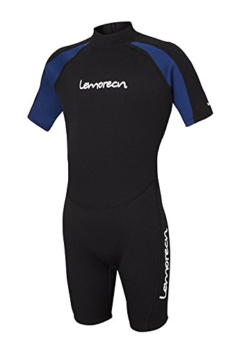 0526dcc911 Lemorecn Wetsuits Youth Premium Neoprene 2mm Youth s Shorty Swim Suits  (4021blue16)