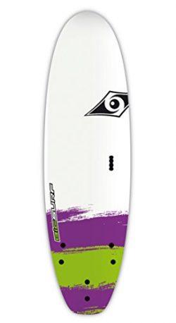 BIC Sport Paint Surf Board, 6'0″, White/Purple/Green