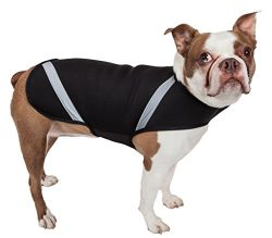 PET LIFE Extreme Neoprene Multi-Purpose Sporty Protective Shell Pet Dog Coat Jacket, Medium, Black
