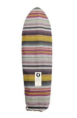 Open Road Goods Striped Grey Surfboard Bag/Surfboard Sock Cover Travel Bag, Handmade! Awesome Su ...