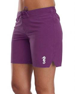 Sociala Womens Boardshorts Swimming Trunks Board Shorts Beach Bottoms M Purple