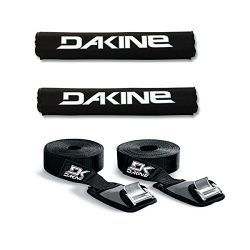 Dakine 18″ ROUND BAR Black Surfboard / SUP / Kayak Roof Car SUV Rack Pad Set with 12′ ...