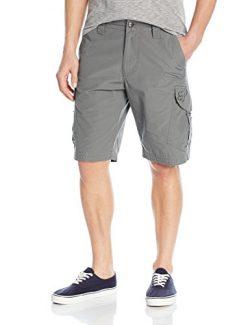 Fox Men's Slambozo Standard Fit 22″ Canvas Cargo Short, Gun Metal, 36