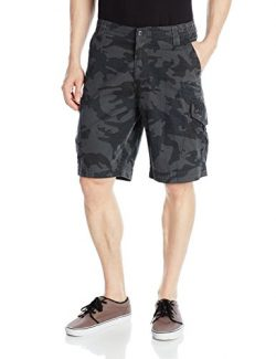Fox Men's Slambozo Standard Fit 22″ Canvas Cargo Short, Gray Camo, 30